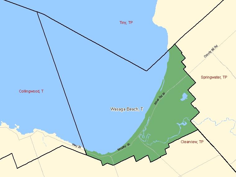 Map – Wasaga Beach (T)
