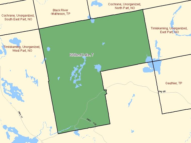 Map – Kirkland Lake (T)