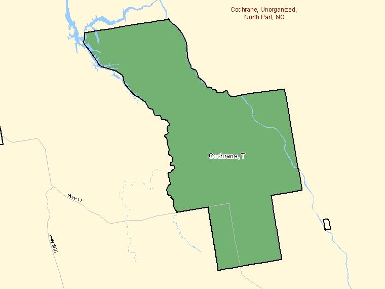 Map – Cochrane (T)
