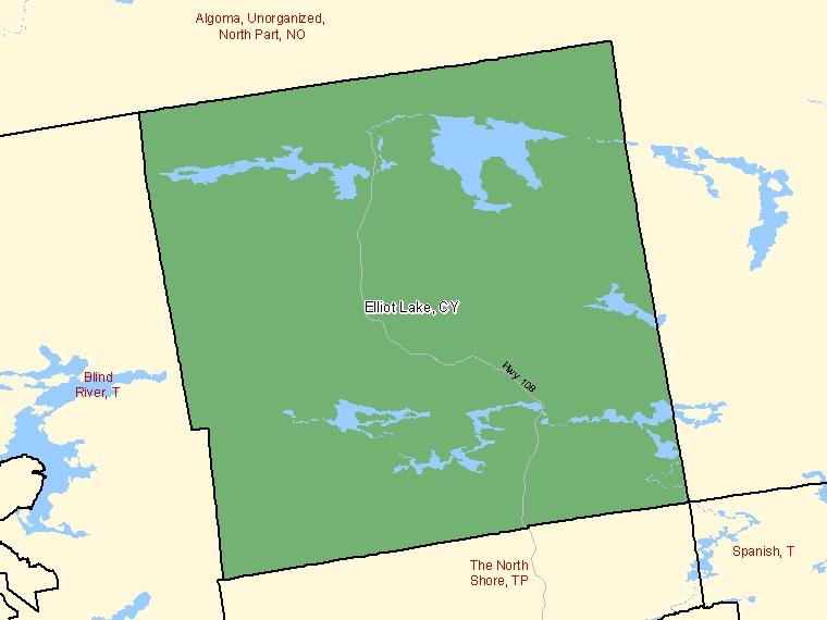 Map – Elliot Lake (CY)