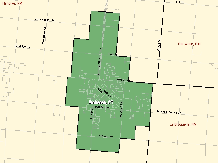 Map – Steinbach (CY)