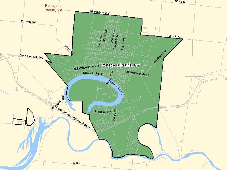 Map – Portage la Prairie (CY)