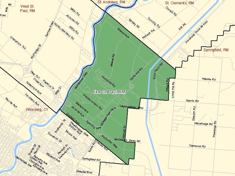 Map – East St. Paul (RM)