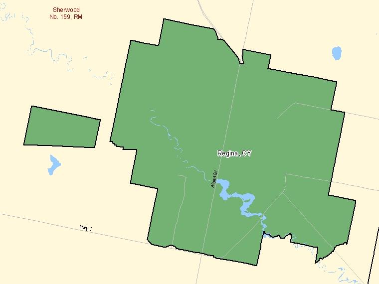 Map – Regina (CY)