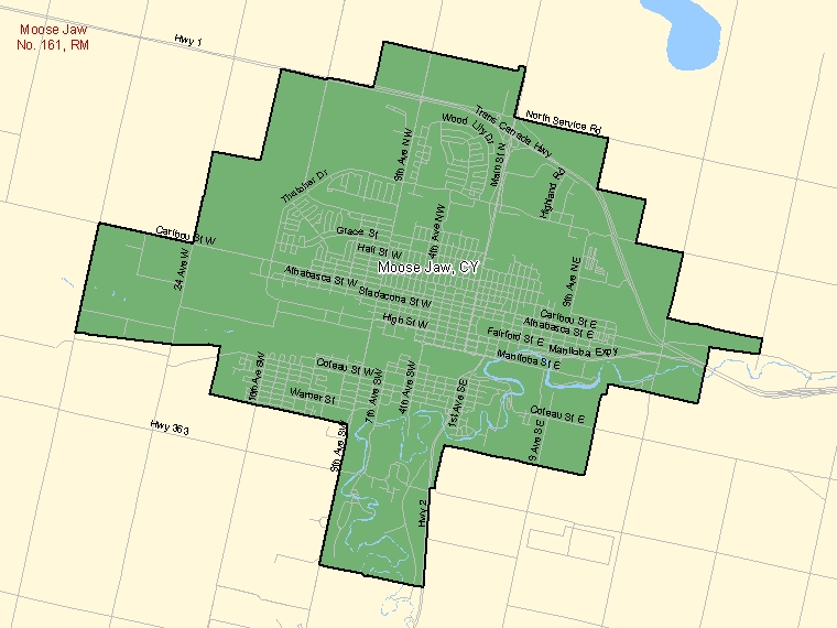 Map – Moose Jaw (CY)