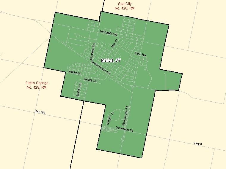 Map – Melfort (CY)