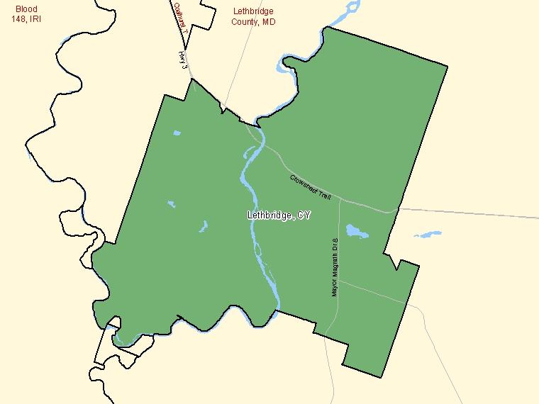 Map – Lethbridge (CY)