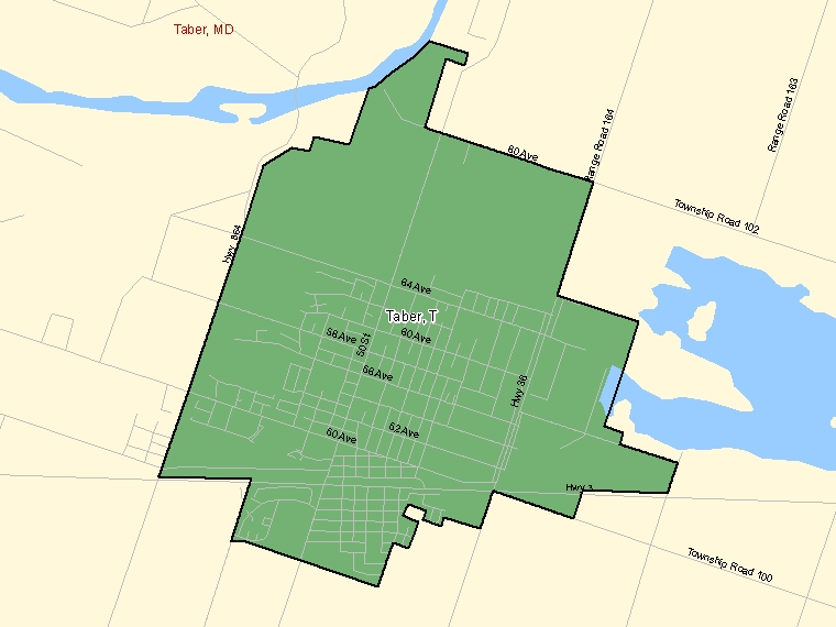Map – Taber (T)