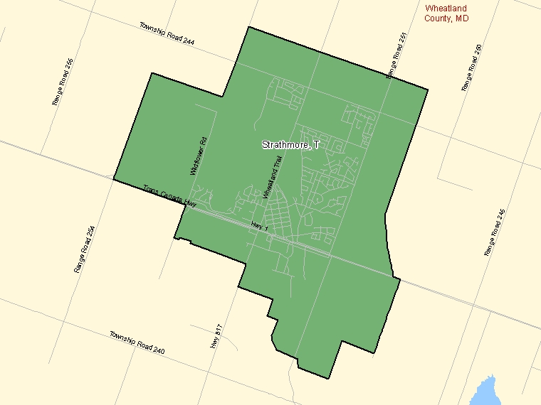 Map – Strathmore (T)