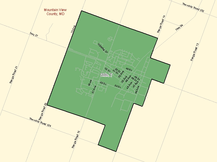 Map – Olds (T)