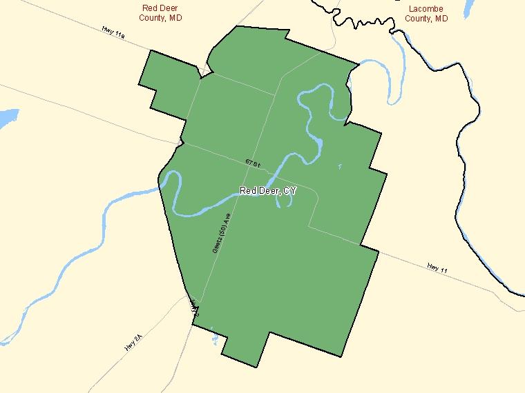 Map – Red Deer (CY)