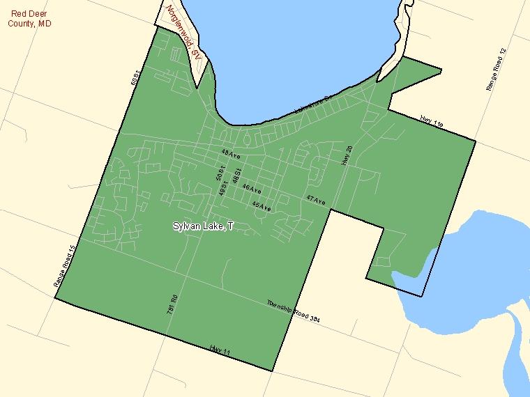 Map – Sylvan Lake (T)