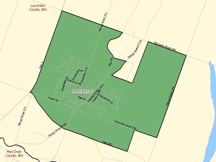 Map – Blackfalds (T)