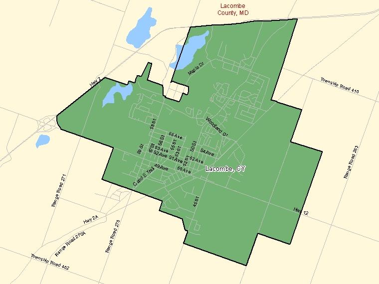 Map – Lacombe (CY)
