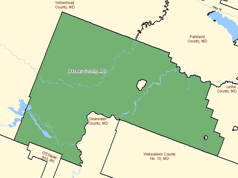 Map – Brazeau County (MD)
