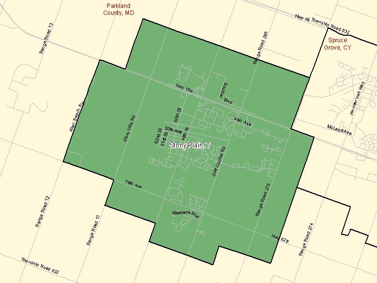 Map – Stony Plain (T)