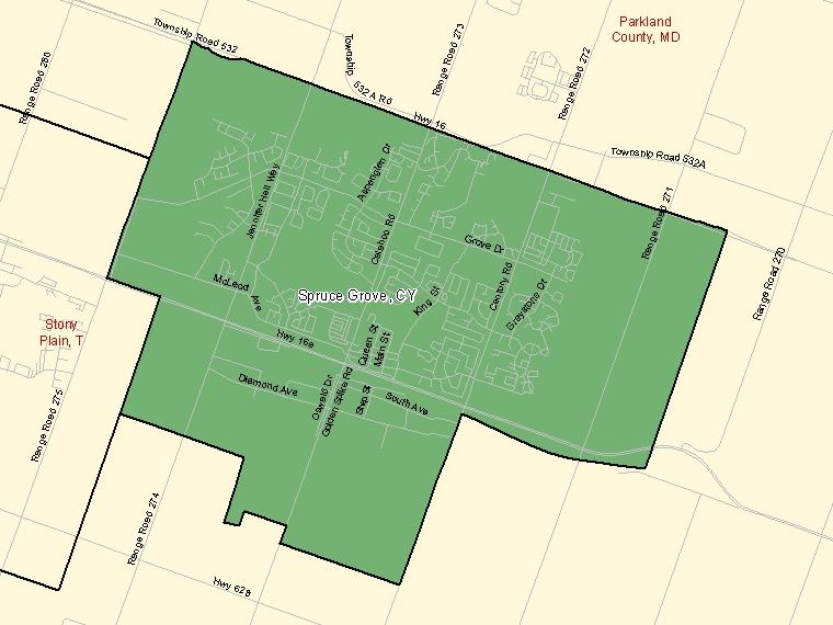 Map – Spruce Grove (CY)