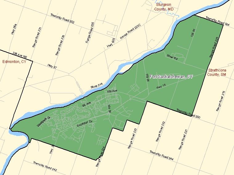 Map – Fort Saskatchewan (CY)