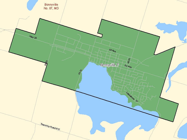 Map – Bonnyville (T)