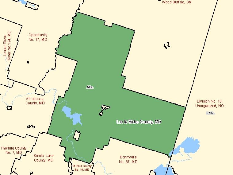 Map – Lac la Biche County (MD)