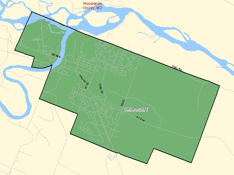 Map – Whitecourt (T)