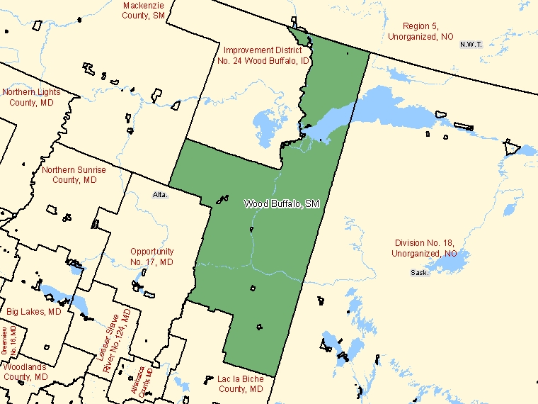 Map – Wood Buffalo (SM)