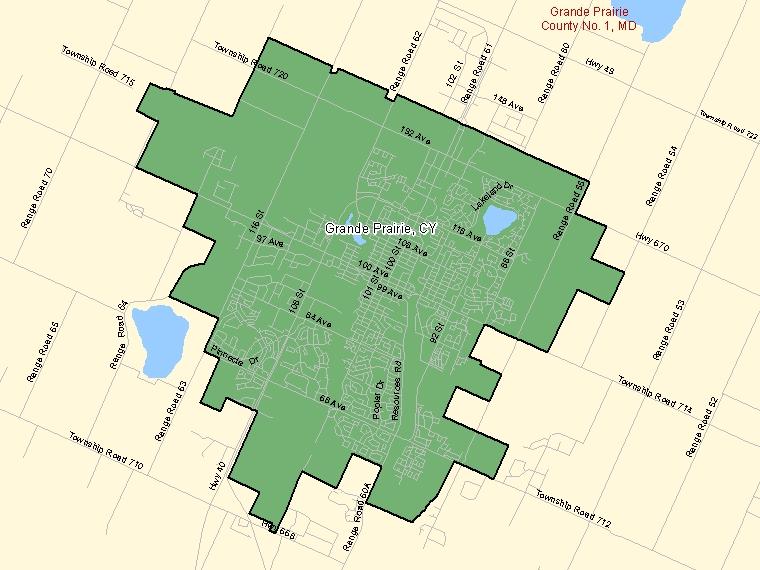 Map – Grande Prairie (CY)