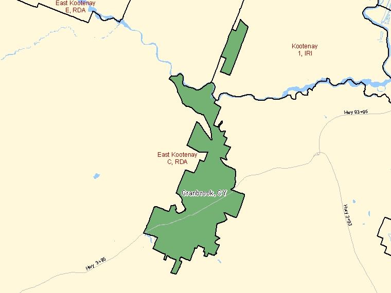 Map – Cranbrook (CY)