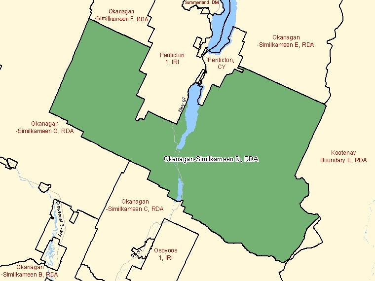 Map – Okanagan-Similkameen D (RDA)