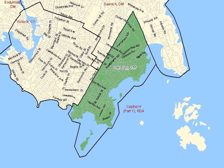 Map – Oak Bay (DM)