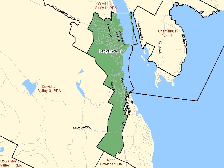 Map – Ladysmith (T)