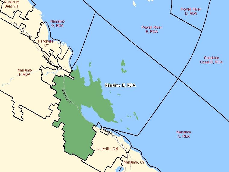 Map – Nanaimo E (RDA)