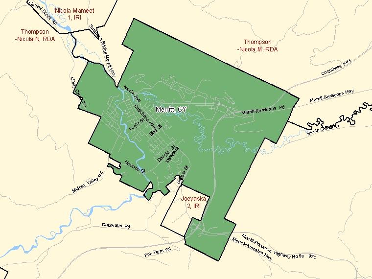 Map – Merritt (CY)