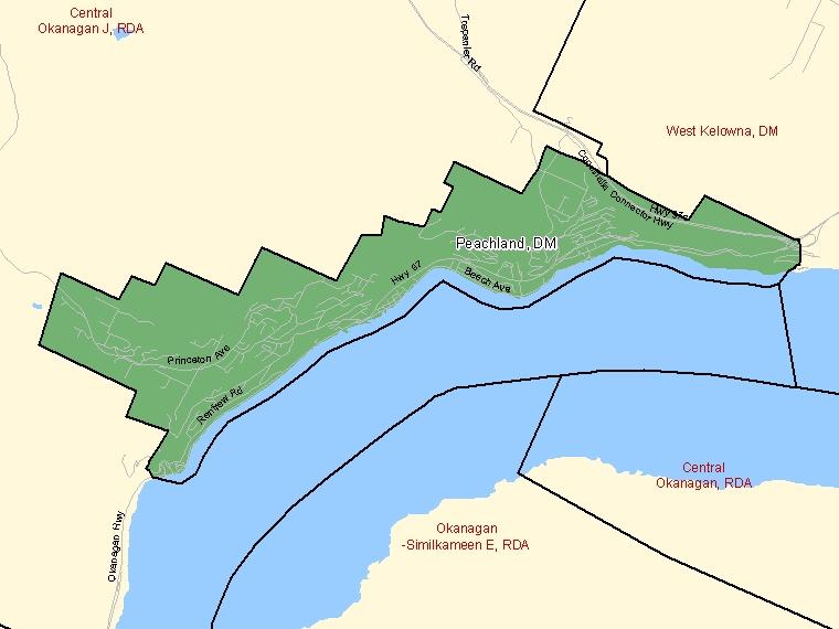Map – Peachland (DM)
