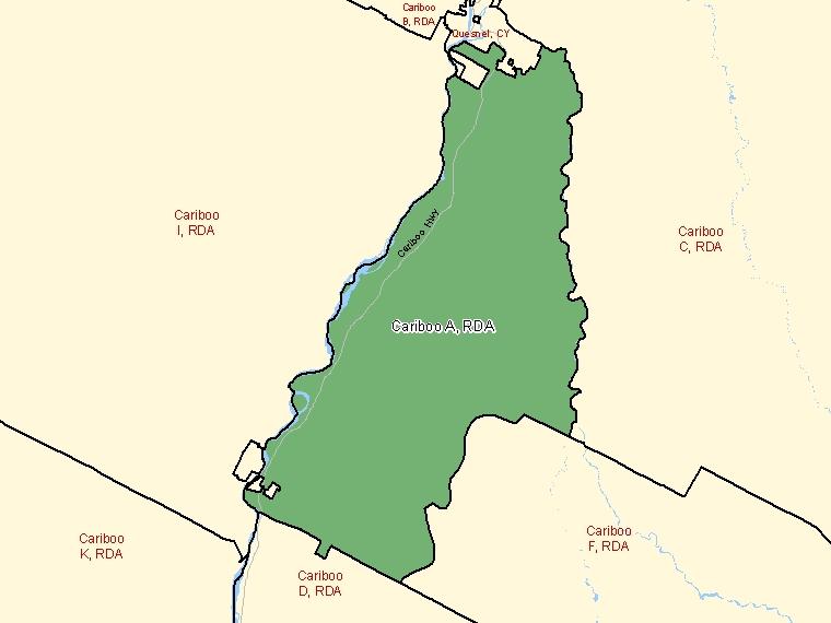 Map – Cariboo A (RDA)