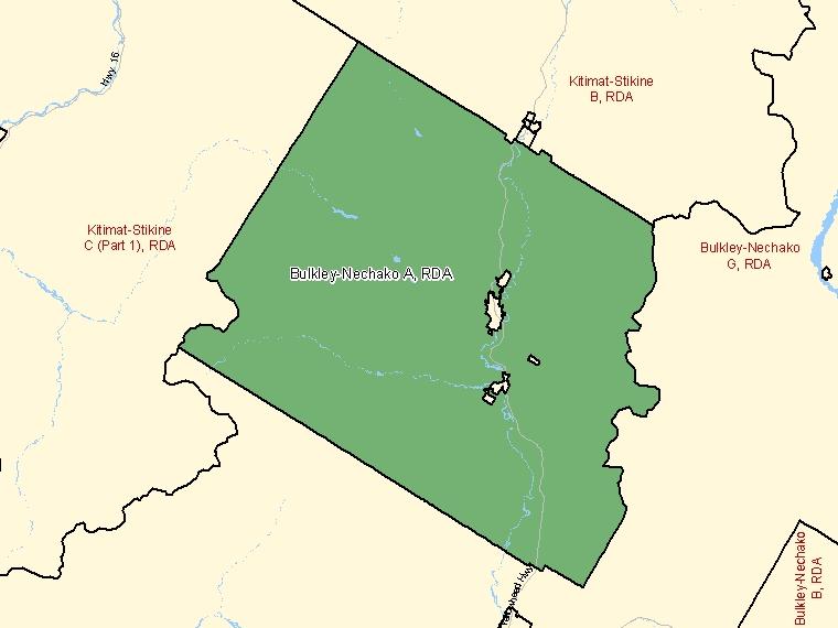 Map – Bulkley-Nechako A (RDA)